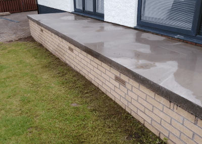 before resin patio Glasgow