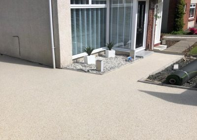after resin driveway in Bishopbriggs, East Dunbartonshire