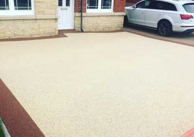 after resin driveway in Blantyre, South Lanarkshire