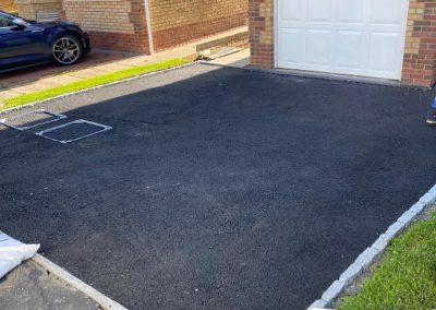 before resin driveway in Paisley